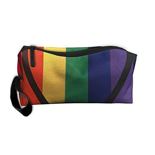 King Fong Love is Love Makeup Bags Men/Women, Travel Toiletry Bag, Oxford Pencil Case ()