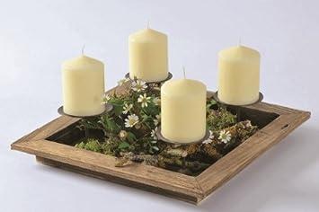 Adventskranz tablett rund
