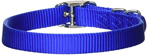 Hamilton 5/8-Inch by 18-Inch Single Thick Nylon Deluxe Dog Collar, Blue