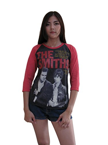 (Bunny Brand Women's The Smiths Chord Songbook Morrisey Rock Raglan T-Shirt (Large, Gray))