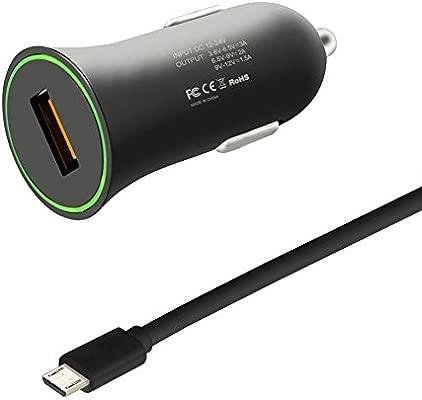 Rokoo Cargador rápido del coche de QC3.0 + Micro USB/Type C ...