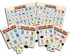 Survival Signs Bingo - Indoor Game (Interest Level: 2 - -