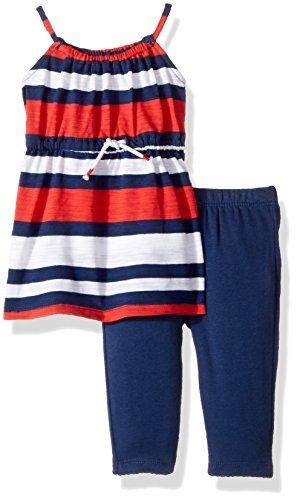 Carter's Baby Girls' 2 Piece Striped Tunic Top And Leggings Set 6 Months