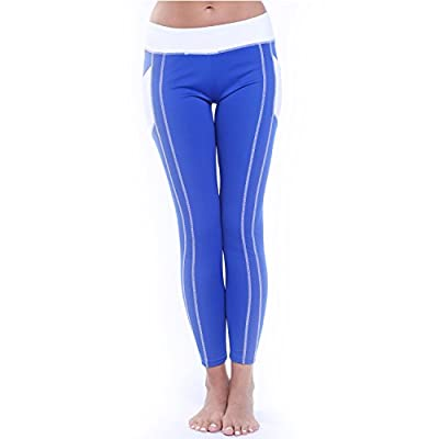 CROSS1946 Women's Active Yoga Pants Running Hips Heart Shape Striped Capris with Waistband Leggings Workout Capris