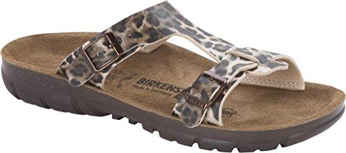 BirkenstockSofia - Cerrado Mujer - Leopard Classic Dark Brown