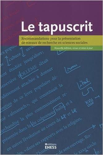 Le Tapuscrit Recommandations Pour La Presentation De