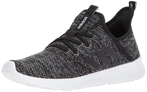 adidas Performance Women's Cloudfoam Pure Running Shoe, Black/Black/White, 8 M - Slip Sport Performance