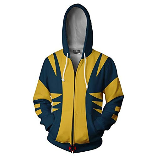 Uyecos Super Hero Hoodie Super Hero Costume Fashion Sweatshirt for Spring and Autumn (XL, Logan)