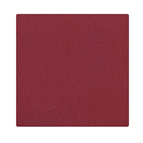 Homyl Hot and Cold Drink Rubber PU Leather Coaster Bar Table Placemat,Deep Red,Deep Tray To Catch Drip and Spill, Large Enough ()