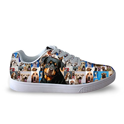 Lace Animal Rottweiler Dog U Men's Sneakers DESIGNS Skate Pet FOR Trainers Fashion Shoes Up qp1Fv
