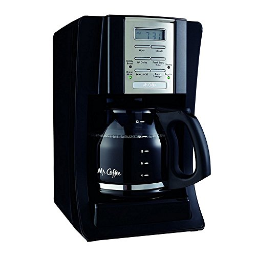 Mr. Coffee SJX23 12-Cup Programmable Coffeemaker, Black