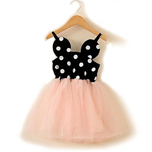 Baby Girl Birthday Dress shining Crown (3Year, Minnie Mouse polka dot tutu) (Minnie Mouse 1st Birthday Dress)