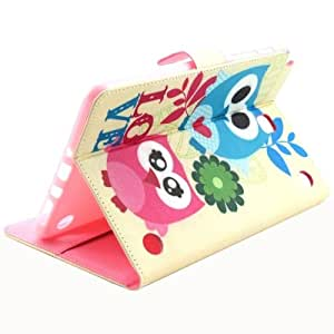 Couple Owl Pattern Horizontal Flip Leather funda case cover + Lápiz GRATIS con Holder & bolsillos internos & Wallet para Samsung Galaxy Tab A 8.0/T350