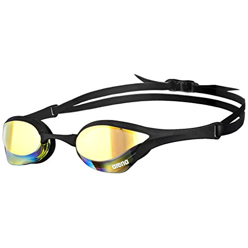 Racing Pro Goggles - arena Cobra Ultra Mirror Swim Goggles, Yellow Copper/Black/Black
