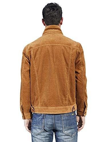 322d8576217 Chartou Men s Vintage Button-Front Slim Fit Corduroy Denim Jacket ...