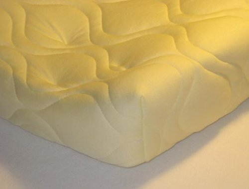 Quilted Contoured Changing Table Pad Cover - Yellow - Made In USA by SHEETWORLD.COM