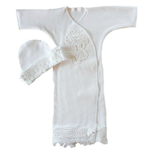 Jacqui's Baby Girls' Beautiful White Lace Gown, Micro Preemie