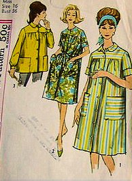 (Simplicity 4572 Misses Front Button Duster and Smock Apron Sewing Pattern Vintage 1954 Check Listings for Size)