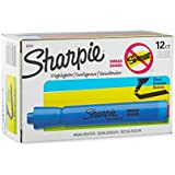 Sharpie 25010 Accent Tank-Style Highlighter, Fluorescent Blue, 12-Pack