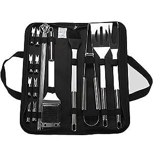 Set di utensili da barbecue portatile in acciaio inox con scatola di stoccaggio, utensili da barbecue per esterni e… 1 spesavip