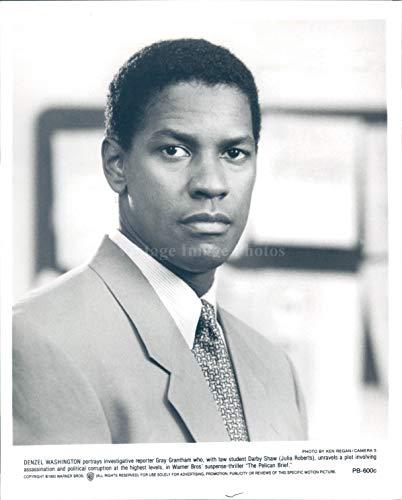Vintage Photos 1993 Photo Denzel Washington Actor Celebrity Director Golden Globe Award 8x10
