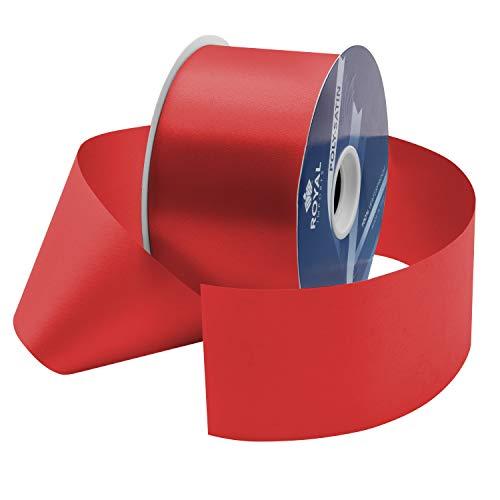 (Red Poly Satin Waterproof Ribbon 2.75
