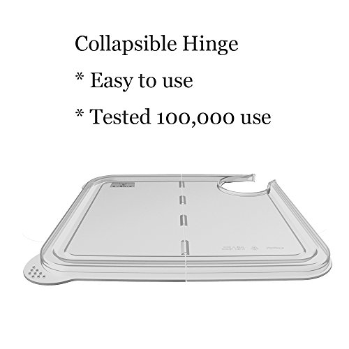 Large Product Image of EVERIE Collapsible Hinged Sous Vide Container Lid for Anova Culinary Precision Cookers, Fits 12,18,22 Quart Rubbermaid Container (Corner Mount)