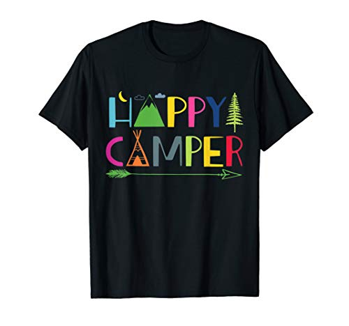 Arrow Camper Happy Camping T-Shirt Gift for Men Women -