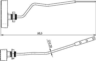Side Mount Tank Lever for Toto's Bristol, Drake, Vespin Toilet (New Design THU068)