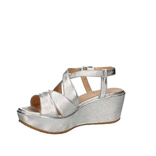 GRACE SHOES SA21 Sandalo zeppa Donna Grigio 35