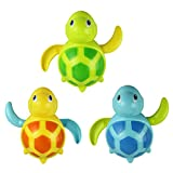 FEITONG(TM) Random Color Newborn babies swim turtle wound-up chain small animal bath toy classic toys