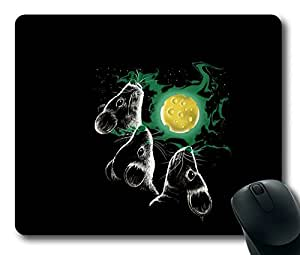 Funny Three Mice Cheese Moon Simple Easter Thanksgiving Personlized Masterpiece Limited Design Oblong Mouse Pad by Cases & Mousepads