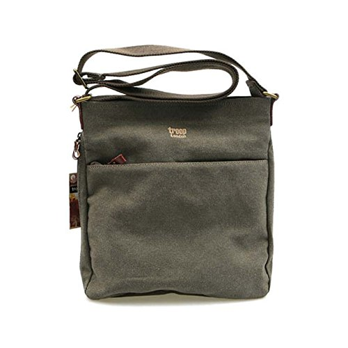troop-london-trp-0237-casual-cross-bag-canvas-fabric-leather-waterproof