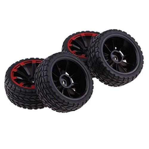 SM SunniMix 4Pc Rubber RC Racing Car Tires for 1/10 HSP HPI Redcat Traxxas Truck Crawler ()