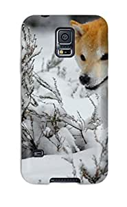 Cute Tpu WilliamBDavis Beautiful Dog Running In The Snow Case Cover For Galaxy S5