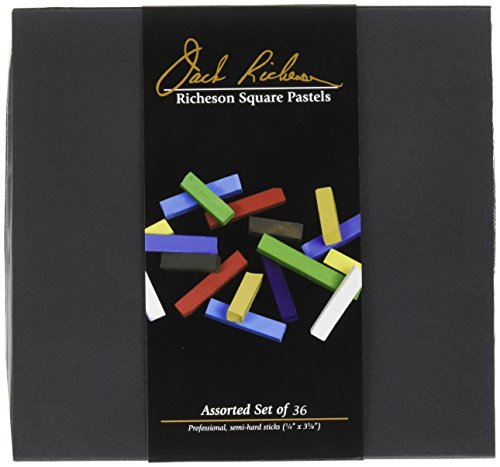 - Jack Richeson Signature Assorted Hard Square Pastels (Set of 36)