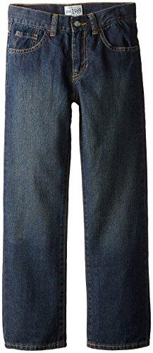 The Children's Place Big Boys' Straight Leg Jeans, Dry Indigo, 8