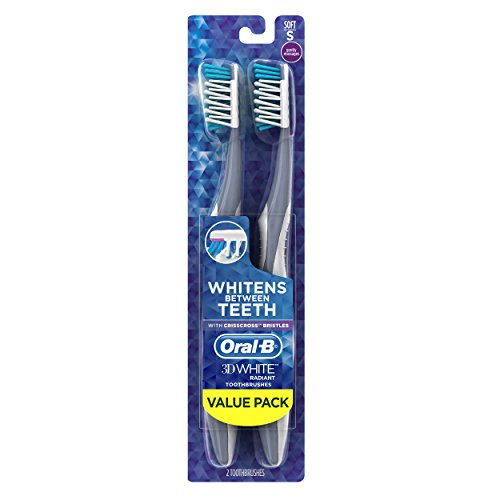 Oral-B 3D White Radiant Whitening Toothbrush 40 Soft 2 Count