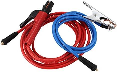 200 Amp Abrazadera De La Tierra Cable De Ambos Con Dkj10-25 Conector WOVELOT Accesorios De La M/áquina De Soldadura 300 Amp Portaelectrodos Cable