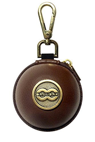 - Ballsak Pro - Brass/Brown - Clip-on Cue Ball Case, Cue Ball Bag for Attaching Cue Balls, Pool Balls, Billiard Balls, Training Balls to Your Cue Stick Bag EXTRA STRONG STRAP DESIGN!