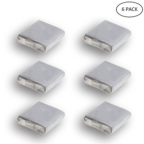 Kneaded Art Eraser, Yanyi Grey Soft Durable Sketch Putty Rubber, Kneadable Rubber Eraser Set (6 pack) (Eraser Putty)