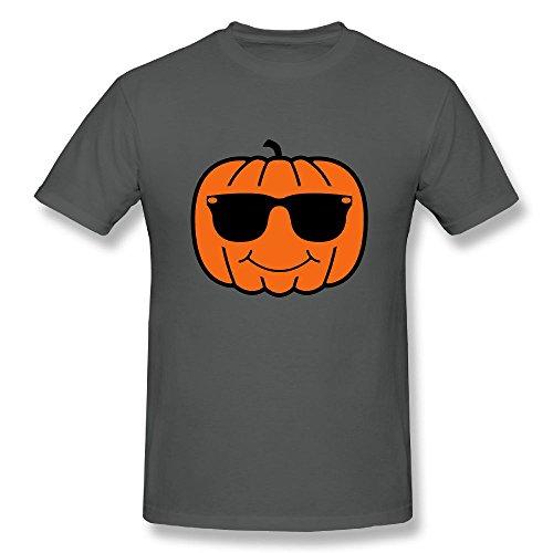Richard-L Mens Tee-Cool Pumpkin With Sunglasses Asphalt - Sunglasses Janis Joplin Style