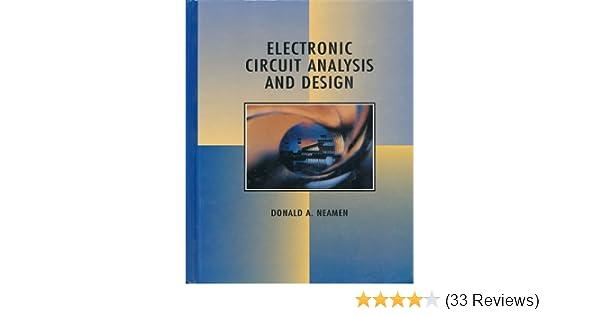 electronic circuit analysis and design donald a neamen