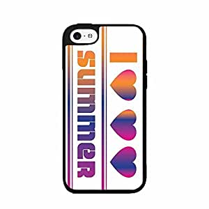 I Love Summer 3 Hearts Plastic Phone Case Back Cover iPhone 5c