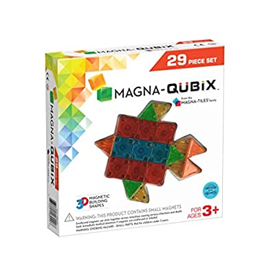 Magna-Qubix 29-Piece Clear Colors Set – The Original, Award-Winning Magnetic 3D Building Shapes – Creativity and Educational – STEM Approved: Toys & Games