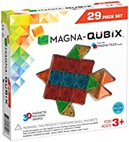 Magna-Qubix 29-Piece Clear Colors Set – The Original, Award-Winning Magnetic 3D Building Shapes – Creativity a