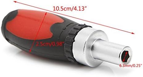 Rongzou Griffschraube - Ratschenschlüssel Schraubendreher Ratschendreher Kohlenstoffstahl 6,35mm Lieferumfang