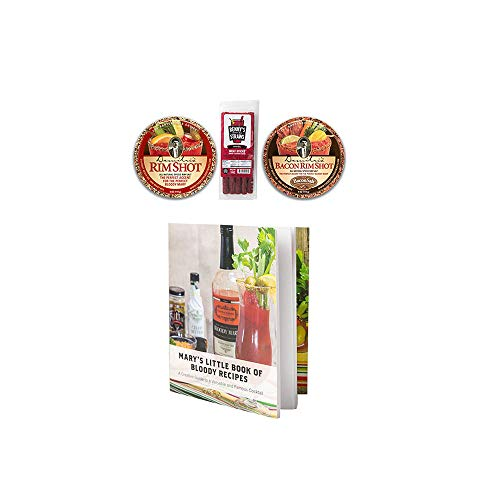 Bloody Mary Garnishing Kit - 2x Demitri's Flavored Rim Salt (Spiced Salt & Bacon Salt) - Benny's Bloody Mary Snack Straws - Pack of 5 & Recipe Booklet (Best Bacon Bloody Mary Recipe)