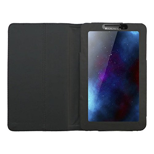 Acm Executive Case Compatible with Lenovo Tab 2 A7 10 Tablet Full Flip Cover Stand Black
