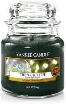 Vetro Verde 9.9X9.8X12.4 Cm Yankee Candle 1316481E Christmas Garland Candele in Giara Media